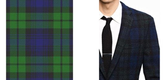 Black watch tweed fabric jacket