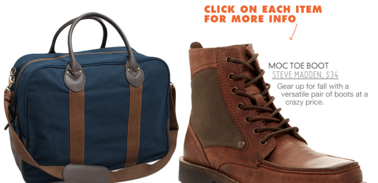 boot and duffel bag