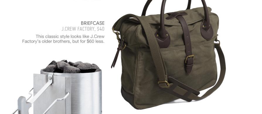 green briefcase