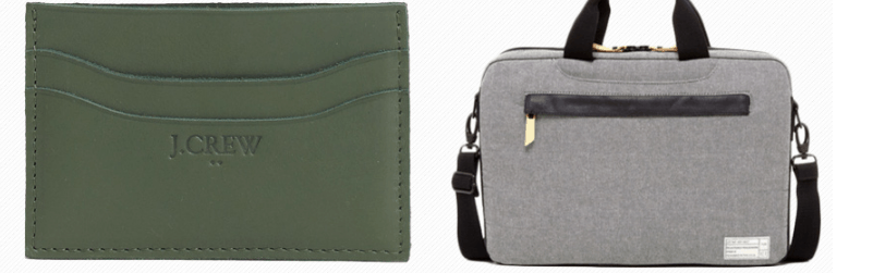 wallet and laptop bag