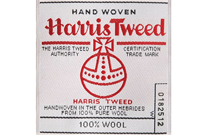harris tweed fabric seal