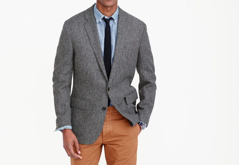 J.Crew Herring tweed fabric coat