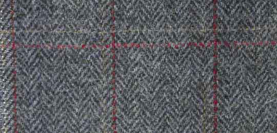 overcheck herringbone tweed fabric