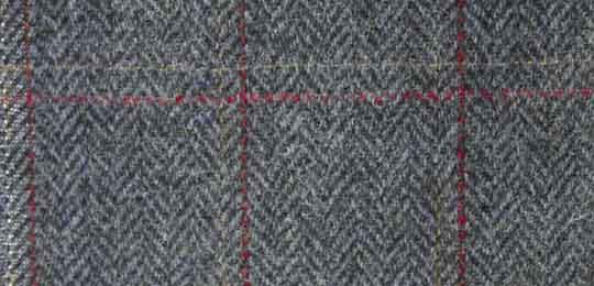 overcheck herringbone tweed fabric
