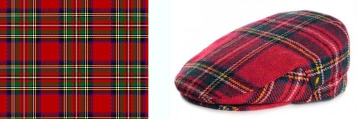 Royal stewart tweed fabric