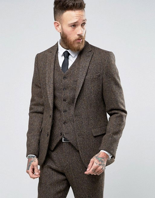 asos harris tweed fabric suit