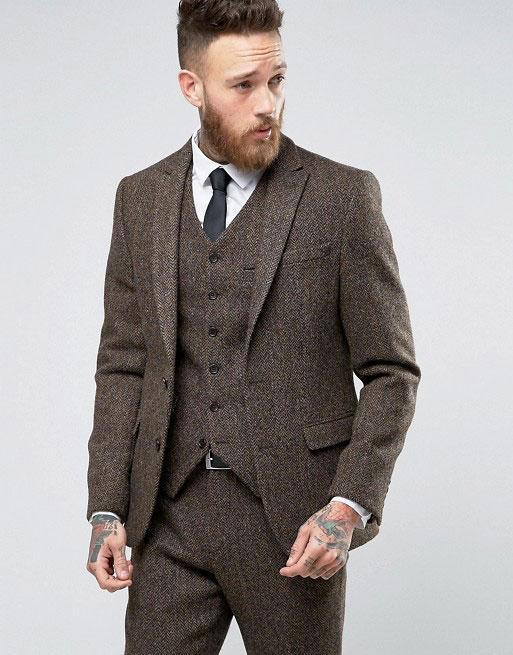 asos harris tweed fabric suit