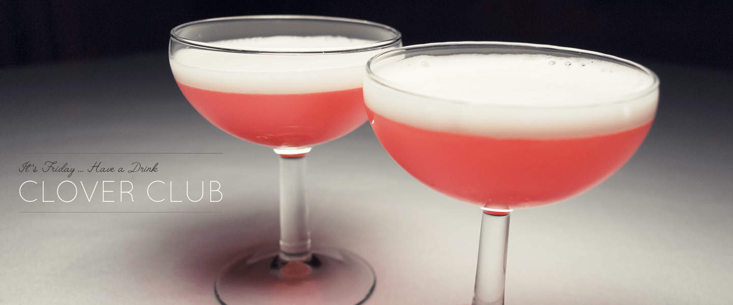 clover club drinks with gin