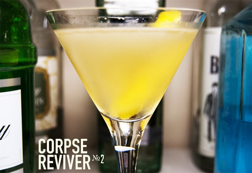 corpse reviver drinks with gin