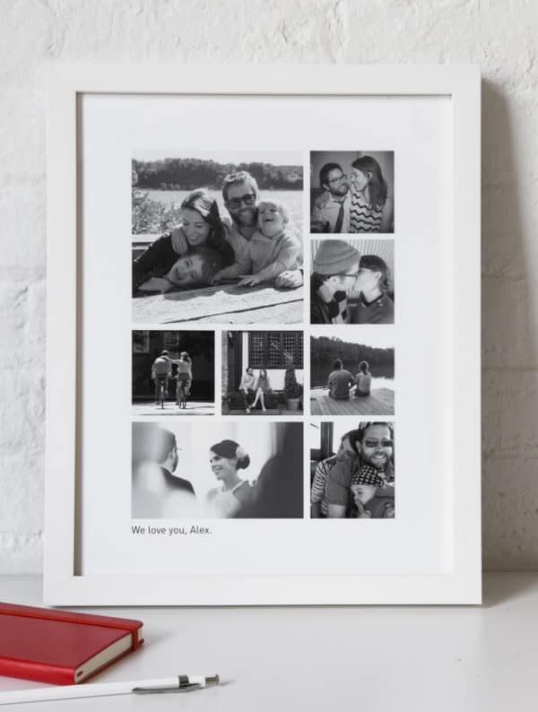 Framed couples photo collage