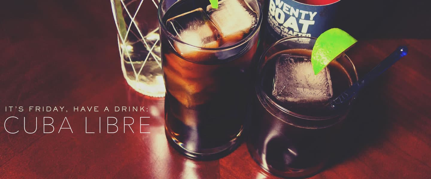cuba libre rum mixed drinks
