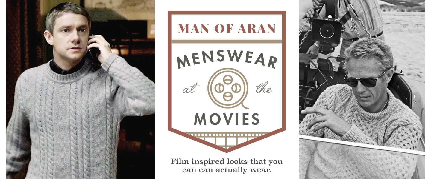 The Man of Aran: Menswear at the Movies