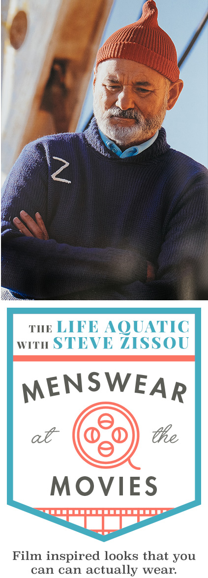 The Life Aquatic with Steve Zissou: Menswear at the Movies