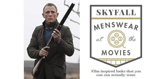 Daniel Craig in Skyfall next Menswear at the Movies Title