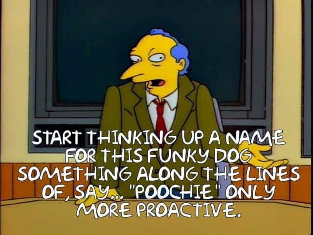 Simpsons meme - Poochie only more proactive