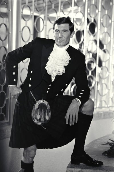 George Lazenby posing for the camera