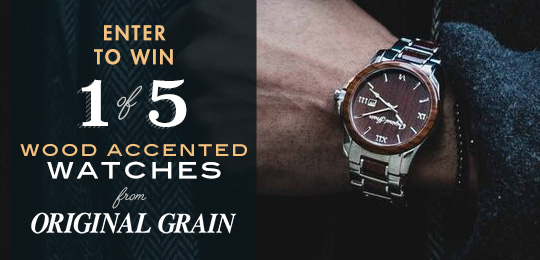 Amazing Giveaway! 5 Wood Watches from Original Grain