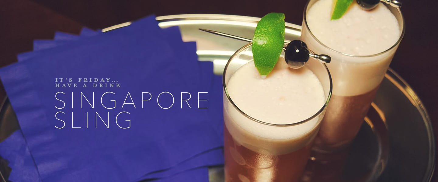 Singapore sling drinks with gin