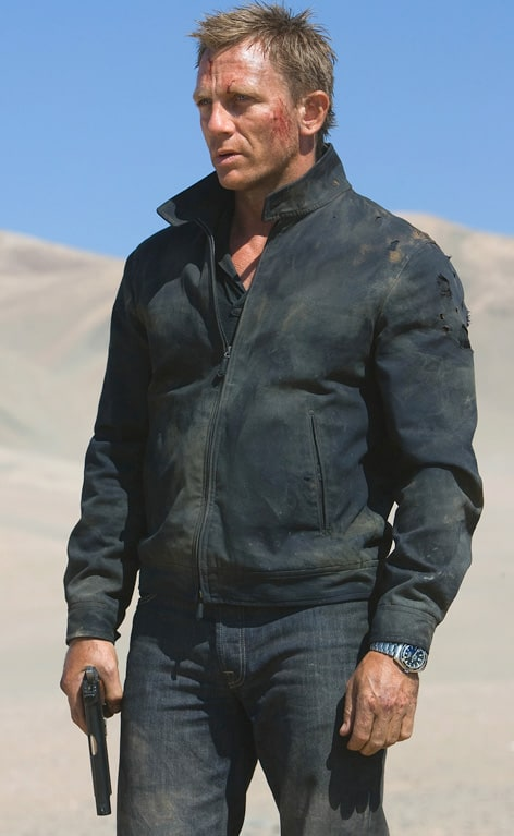 Daniel Craig James Bond Harrington Jacket from Quantum of Solace