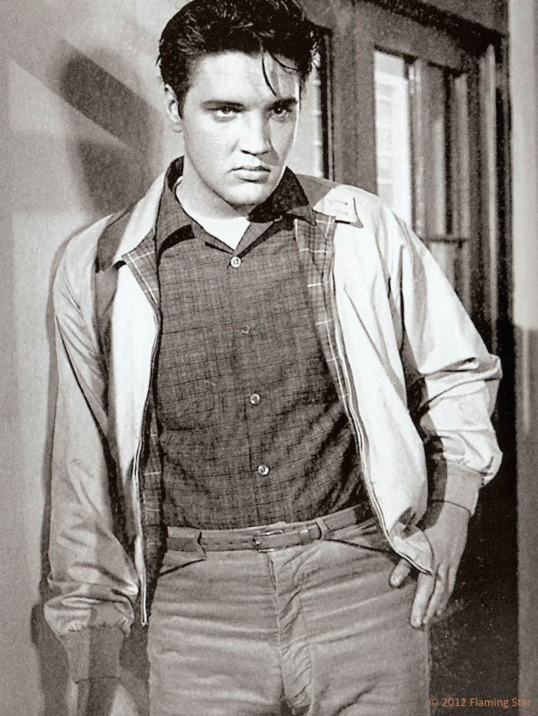 elvis presley wearing harrington jacket