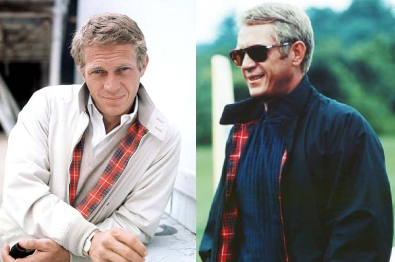 Steve Mcqueen in harrington jacket