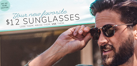 Our New Favorite Sunglasses, man putting on sunglasses