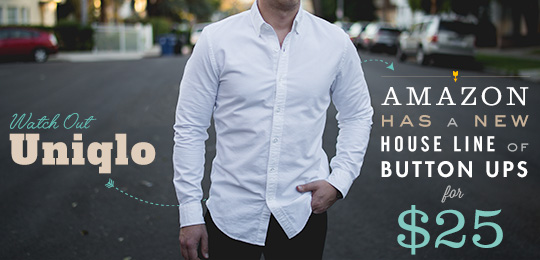 Amazon Has a New House Line of Button Ups for $25