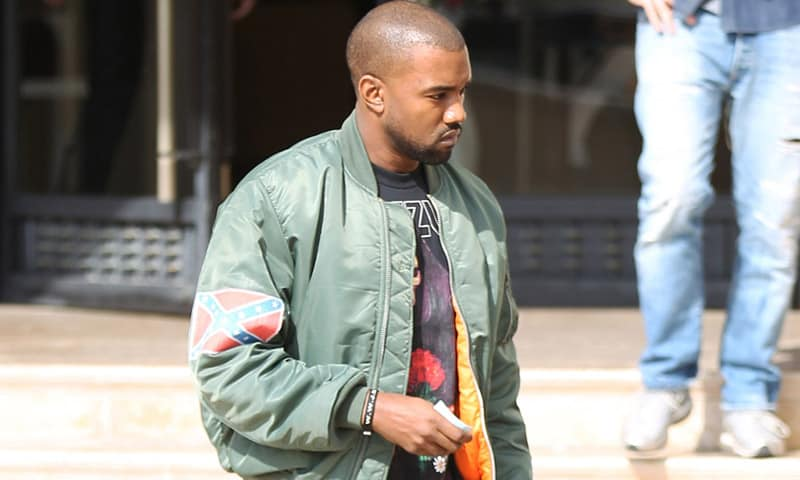 Kanye West Bomber Jacket confederate flag