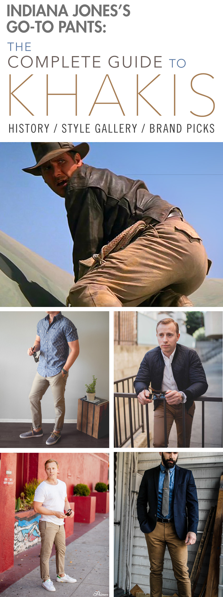 Indiana Jones's Go-to Pants: A Complete Guide to Khakis - History / Outfit Inspiration Gallery / Brand Picks