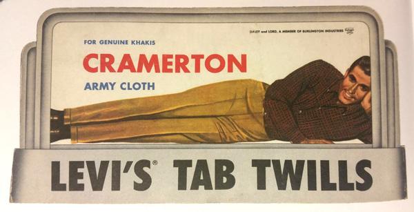 Levi's Tab Twills chino khakis ad