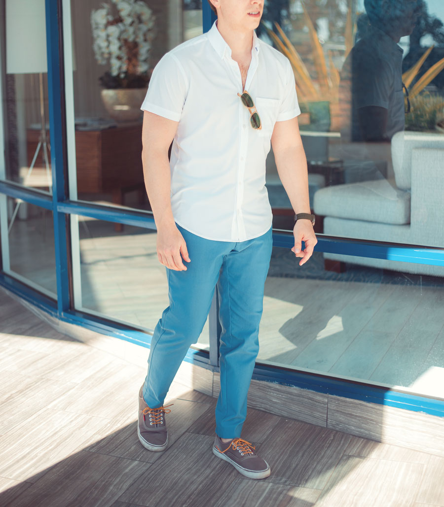 Men spring summer warm weather casual outfit