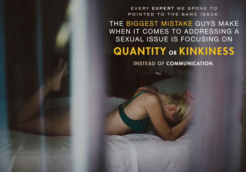 quantity or kinkiness instead of communication