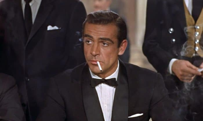 James Bond wearing a tux in Dr No