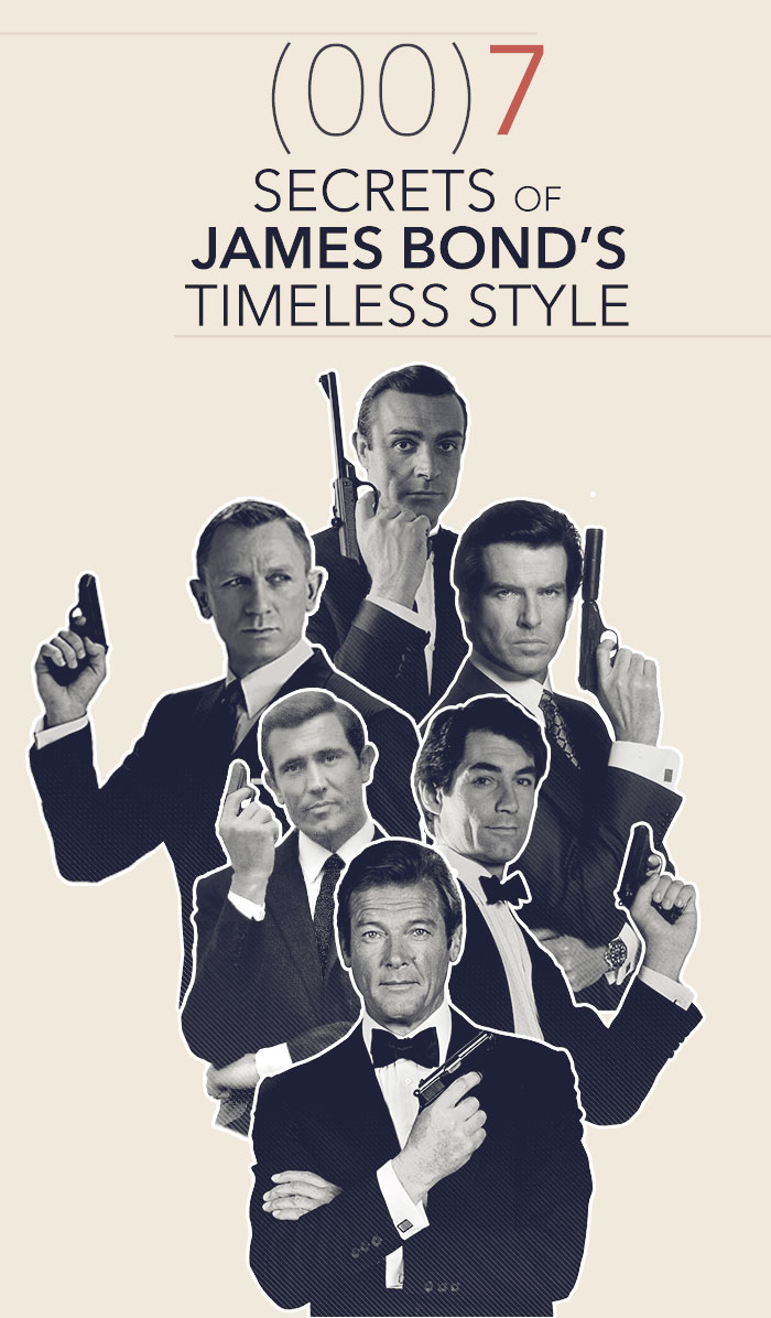 (00)7 Secrets to James Bond's Timeless Style - Investigating 55 years of the world's most iconic man