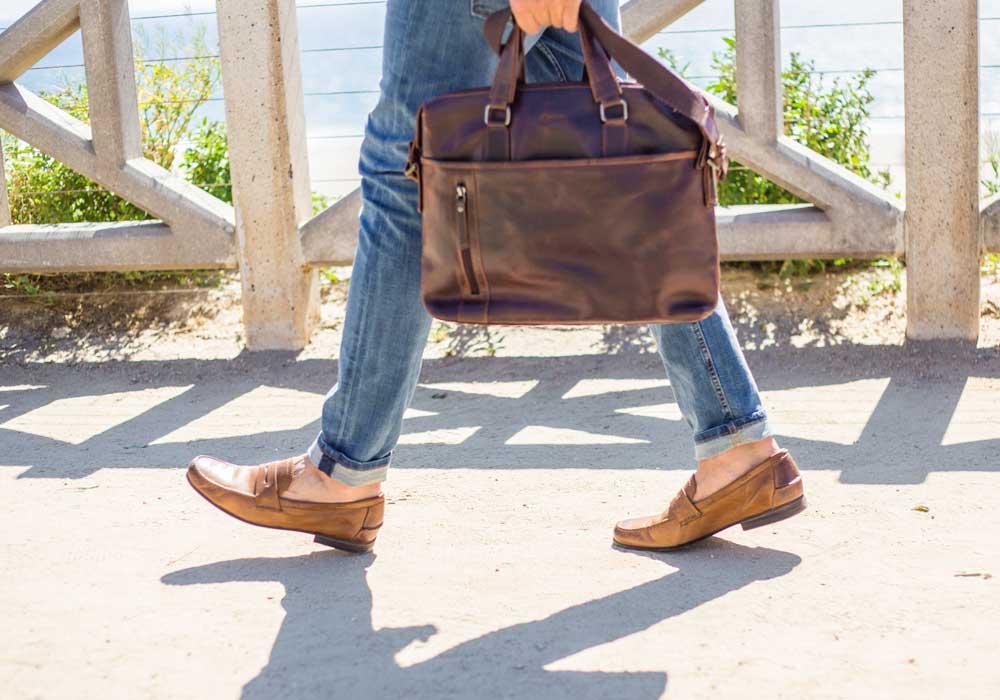 Baccini leather briefcase Amazon