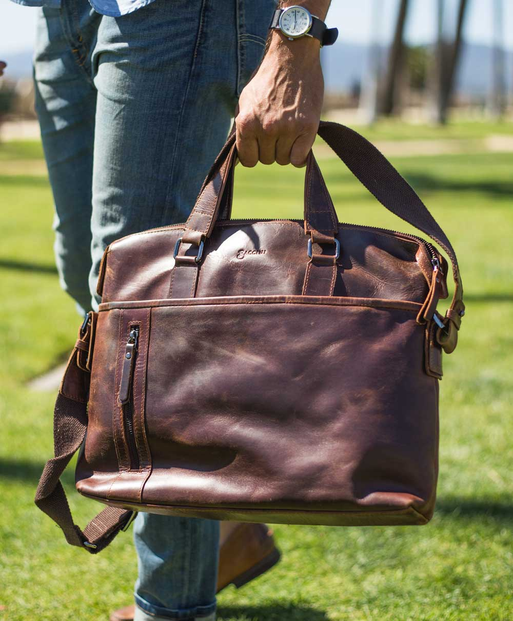 Best affordable leather briefcase under $100