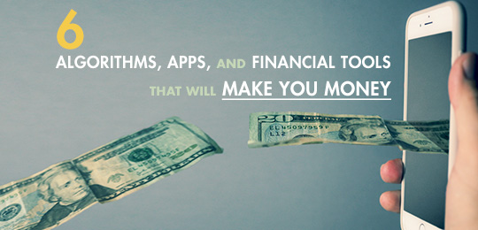 Apps and Tools That Will Make You Money graphic with money coming out of phone