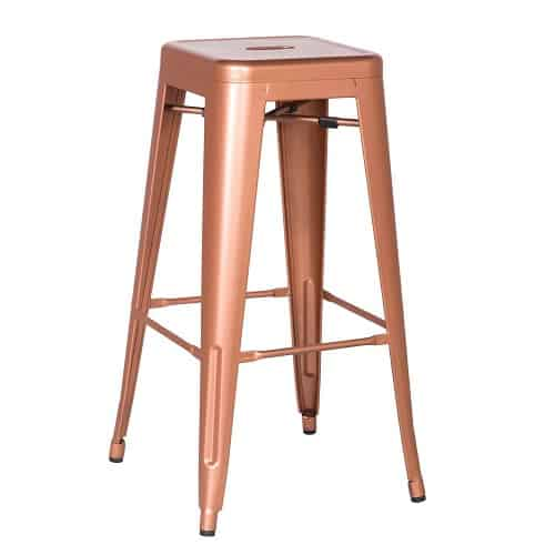 2016 NEW 30-inch Metal Counter Bar Stools, Polished Surface Glossy Barstool, Copper (SET OF TWO), $129.99