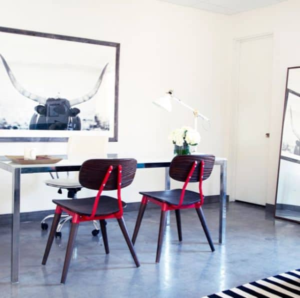 Arken Side Chair ESPRESSO/RED, $148