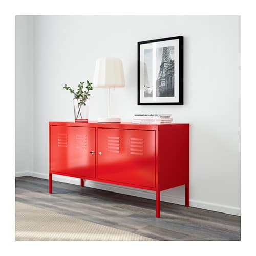 Cabinet, red, $99