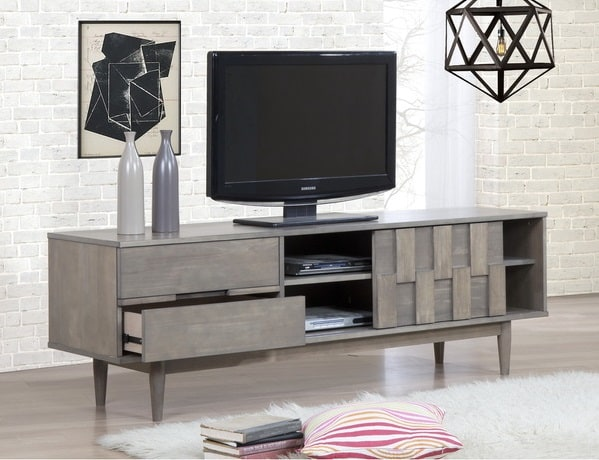 Grey Tessuto Entertainment Center, $449.99