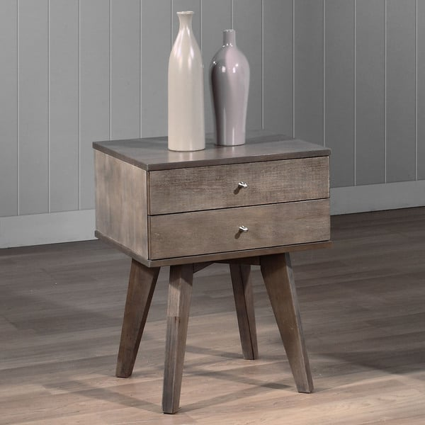 Jones Two-drawer Light Charcoal Nightstand, $130.49