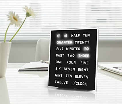 LED Word Clock, $79.99
