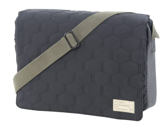 Image of a HEX Empire messenger bag with quilted front