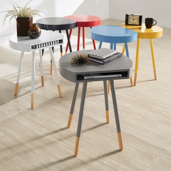 Marcella Paint-dipped Round End Table, $72.99