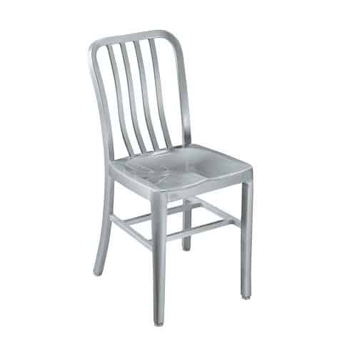 Sandra Side Chair, METAL SEAT, BRUSHED ALUMINM, $145