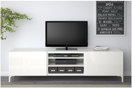 TV unit with drawers, white, $229