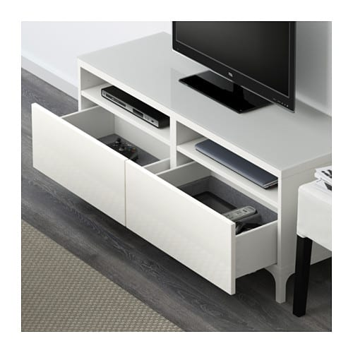 TV unit with drawers, white, $249