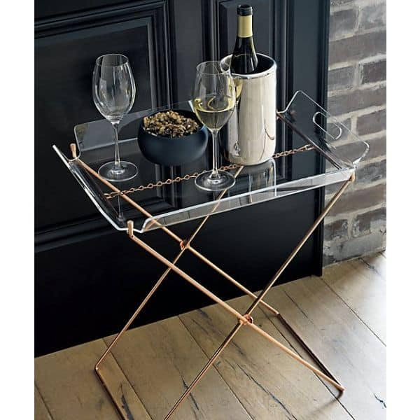 acrylic tray table, $79.95
