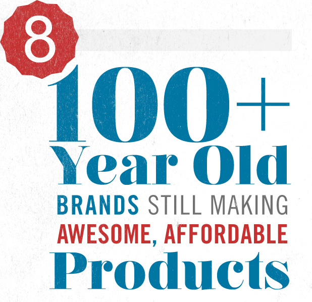 Eight 100+ Year Old Brands Still Making Awesome, Affordable Product
